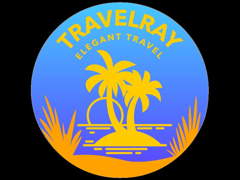 Travelray Logo concept inspiration idea colors sketch app flat illustration vector ui logo design