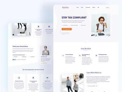 Modern Landing Page User Interface landingpage technology fintech financial minimalist business clean taxes modern