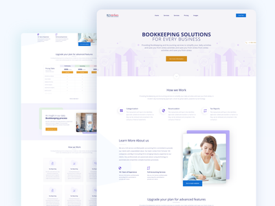 Financial Industry Landing Page web technology modern simple clean ui clean light business consulting advisor financial accounting landing page