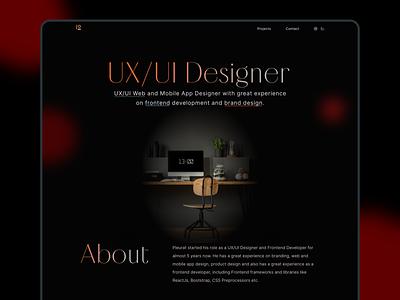Personal Portfolio Website portfolio website trend gradient freelancer dark blur blurry modern portfolio