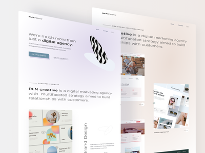 Marketing and Creative Agency UI Design light agency digital marketing startup creative agency creative clean