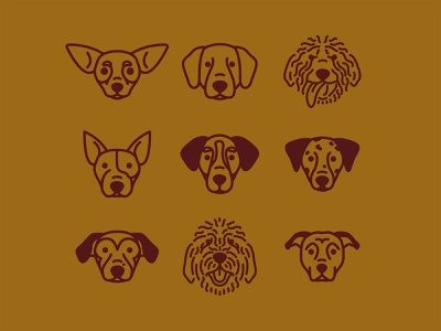 Shop Dogs icon apparel design fort worth monoline vector trust printshop trust shopdog dogs icons illustrator illustration design