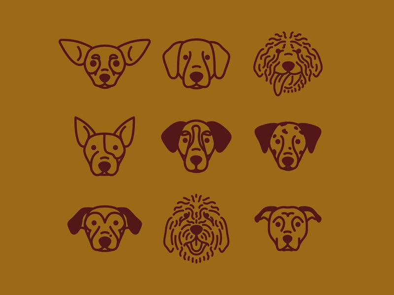 Shop Dogs icon apparel design fort worth monoline vector trust printshop trust shopdog dogs icons illustrator illustration design