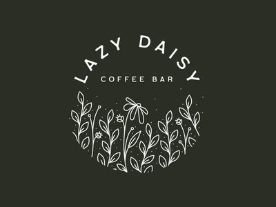 Lazy Daisy Coffee To-Go Cup packaging design packaging cup togo monoline coffee bar coffee floral flowers lazy daisy daisy lazy branding vector typography type fort worth illustrator illustration design