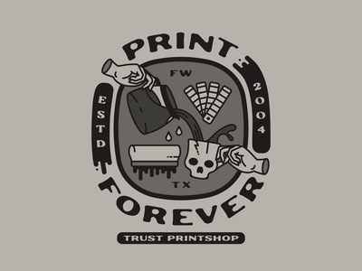 Print Forever cup coffee cup pour coffee hand squeegee forever print forever print trust vector type typography tshirt design apparel design fort worth trust printshop illustrator illustration design