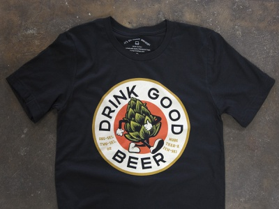 Drink Good Beer Shirts screenprinting brewski tag beale hoodzpah fonts tshirt hops beer good drink trust vector tshirt design apparel design fort worth trust printshop illustrator illustration design