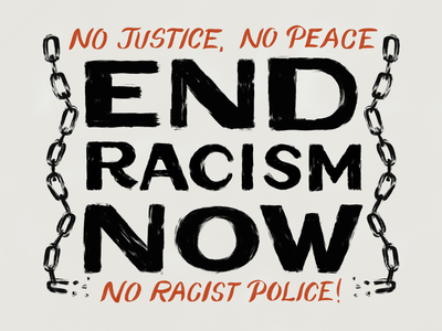 End Racism Now - Poster Download! texture procreate blm black lives matter free download poster typography