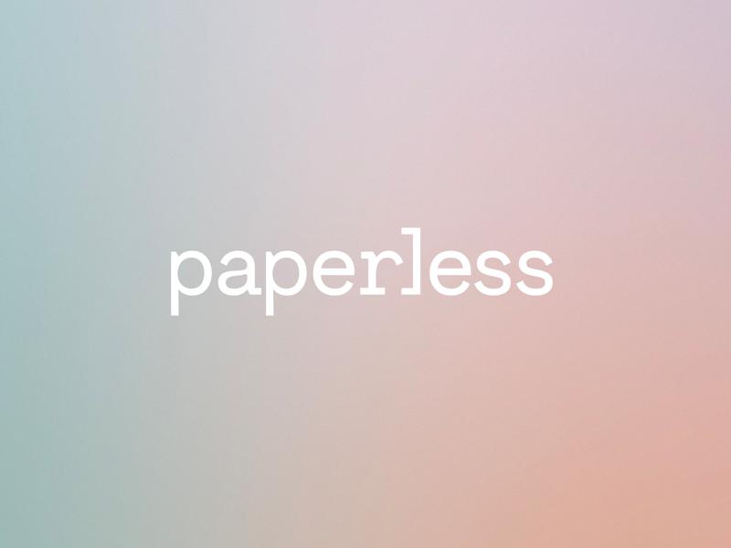 Paperless Logo typography type fort worth branding logotype logo software gradient paperless brand design brand identity brand design
