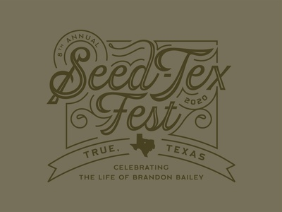 Seed-Tex Fest 2020 - Concept 1 fest texas seedtex vector tshirt design apparel design typography type trust printshop fort worth illustrator design