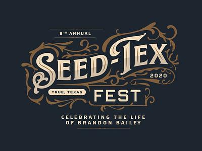 Seed-Tex Fest - Concept 2 texas fest festival seedtex vector tshirt design apparel design typography type trust printshop fort worth illustrator illustration design
