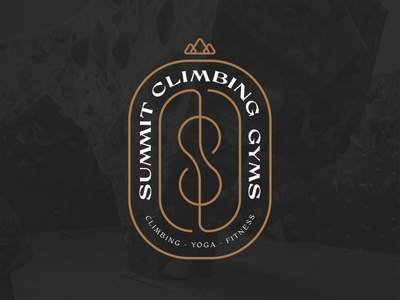 Summit Climbing Gym gym climbing summit badge trust vector tshirt design apparel design typography type trust printshop fort worth illustrator design