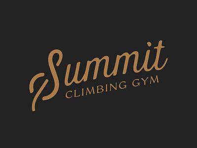 Summit Script script rock climbing climbing summit gyms summit trust vector apparel design tshirt design typography type trust printshop fort worth design