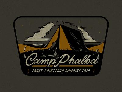 Camp Phalba texture trust printshop typography tent illustration fort worth tshirt tshirt design apparel design trip camping texas phalba camp