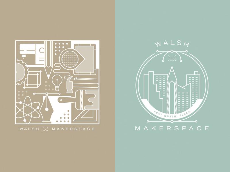 Unused Makerspace Designs badge icon fort worth vector trust printshop tshirt design design apparel design illustration illustrator
