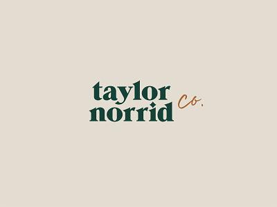Taylor Norrid Logo stylist hair stylist salon fort worth branding logo design illustrator type typography design logo