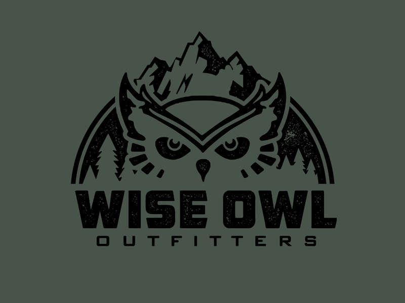 Wise Owl Outfitters - Concept 2 mountains owl outfitters hammock wise owl trust texture branding badge logo vector fort worth trust printshop tshirt design apparel design type typography illustration design illustrator