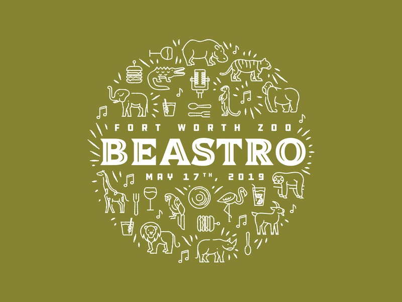 BEASTRO 2019 beastro animal icons zoo fort worth zoo animals icons trust logo vector fort worth trust printshop tshirt design apparel design illustration design illustrator