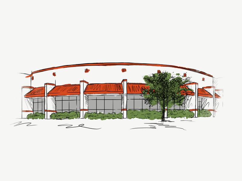 School Building Illustration architechture school building school building fort worth trust printshop tshirt design apparel design illustration design photoshop