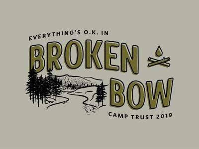 Camp Trust 2019 trees type vector tshirt design tshirt trust printshop trust trip print oklahoma illustrator illustration fort worth design campfire camp broken bow badge