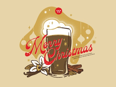 5 Stones Brewery Christmas Ale holiday christmas brewery beer merry christmas trust vector typography type apparel design tshirt design fort worth trust printshop illustration illustrator design