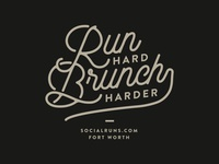 Social Running - Run Hard, Brunch Harder