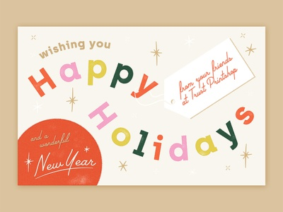 2019 Trust Holiday Card card holiday card texture new year holiday happy holidays christmas trust typography type fort worth trust printshop design