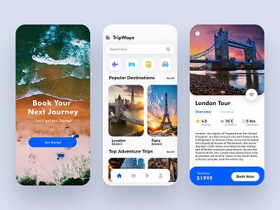 Travel Mobile App branding icon vector graphic illustraion colors dribbble ios ux ui minimalist design app mobile app booking trips travel agency traveling