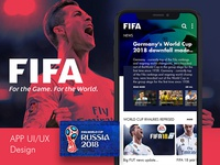 FIFA - World Cup 2018 App Concept