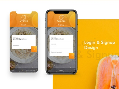 Oranzo A fresh fruit Ordering App tank creative trip ios icon uiux new mockup font free psd color