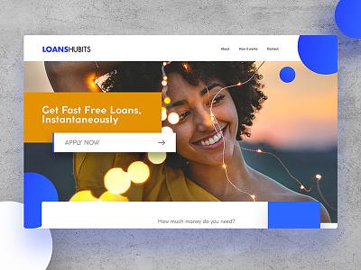 LoansHubits hello dribbble graphic font template psd free new design colors web