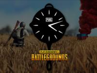 PUBG wall clock design