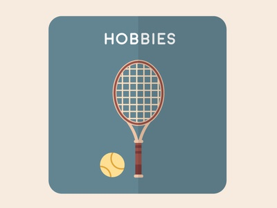 Hobbies flat vectorial home house illustration design icons icon
