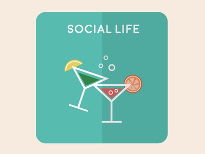 Social Life flat vectorial home house illustration design icons icon