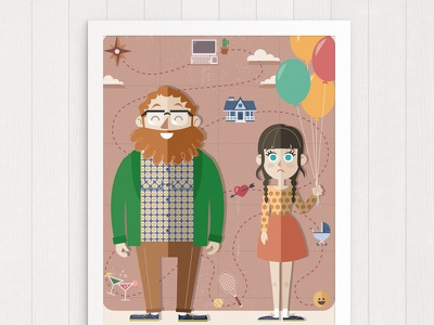 Poster Requirements movie love poster hobbie job flat vectorial home house illustration design icons icon