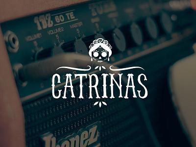 Catrinas Thumb music dia de muertos illustration mexico catrina mexican lotype logo