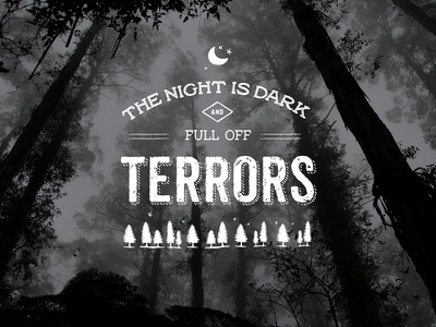 The night is dark and full of terrors typography red woman snow design tipography art fan fanart game of thrones got