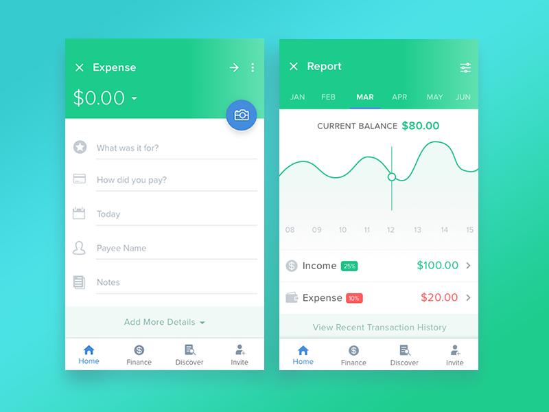 Financial App ux ui statistics design mobile productdesign app