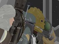 STAR WARS: Bounty Hunters Illustration