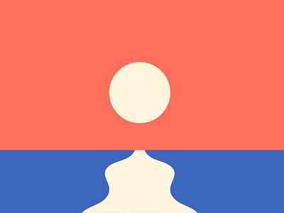 Sunset illustrator design cesar contreras