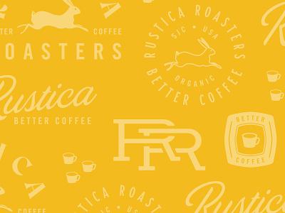 New brand work for Rustica Roasters logo illustrator branding top design cesar contreras