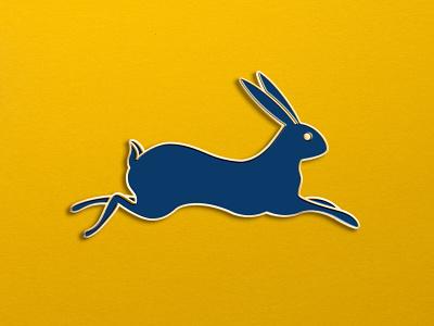 Rustica Roasters Rabbit Pin branding design pin top design cesar contreras