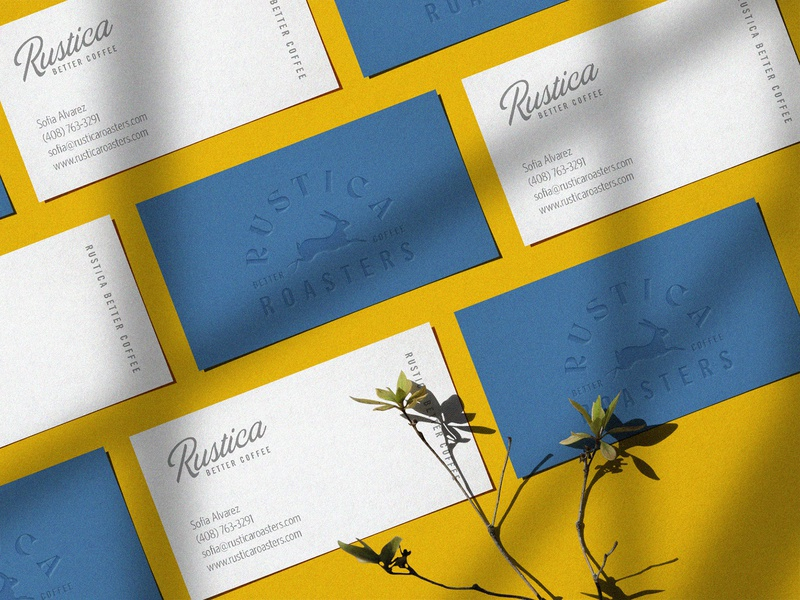 Rustica Roasters business cards