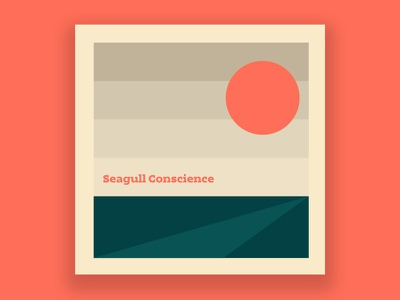 Seagull Conscience sun minimal photoshop illustrator design cesar contreras