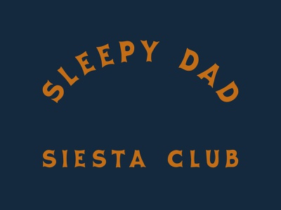 Sleepy Dads Taking Naps typography illustrator design cesar contreras