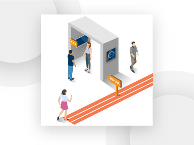 Isometric Design for a Refuel concept user experience user interface iilustration isometric