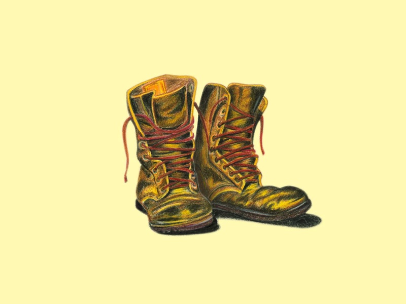 boots illustration painting drawing coloredpencil minimal icon lettering illustration design branding