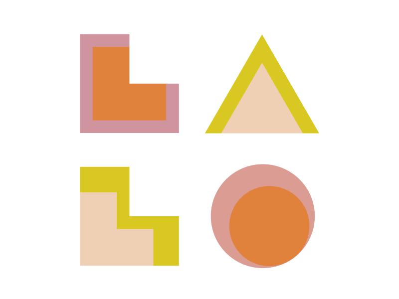 LALO california retreat shapes logo design lalo logo