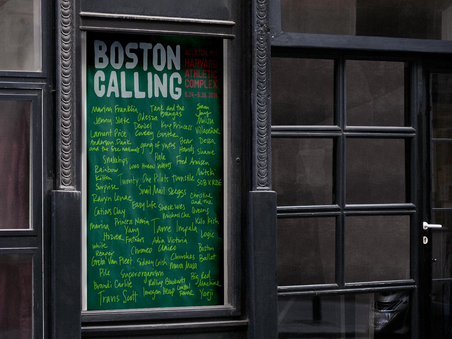 Boston Calling Poster allston bands band poster festival poster design poster poster art boston calling boston