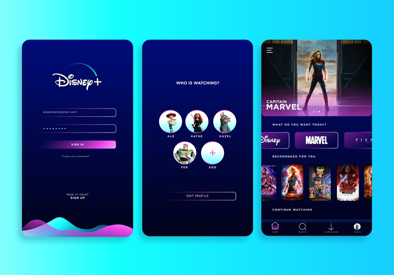 Disney Plus, first part by Alexandra Espinoza on Dribbble