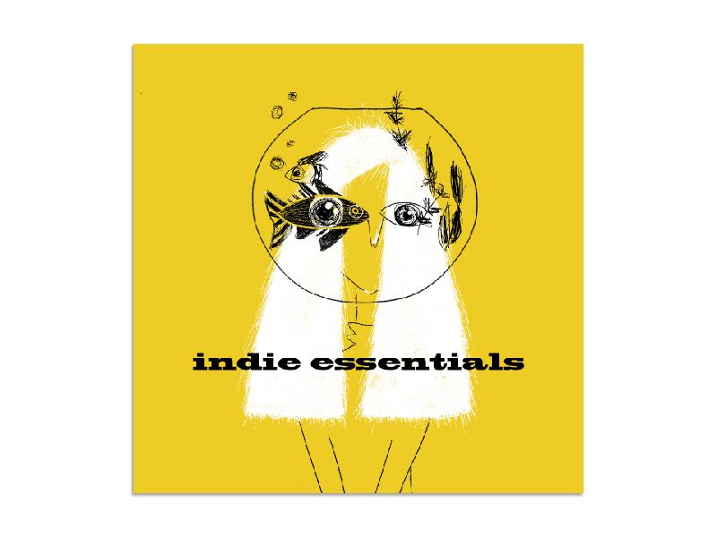 Indie essentials photoshop indie spotify playlist cover artwork cover design illustration
